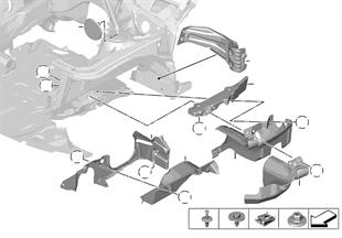 Pièces de montage compartiment-moteur
