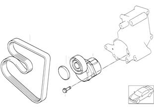 Napęd pasowy pompy wody/prądnicy