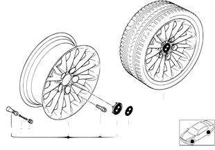 BMW LM Rad Radialspeiche 48