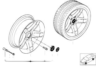 BMW LM Rad Sternspeiche 49