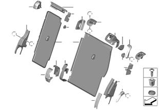 Molduras de respaldo asiento trasero