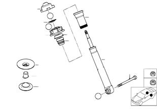 Pružicí jednotka zadní jednotlivé díly