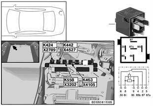 Relay for radio signal / horn K463