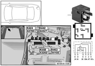 Relais signal radio/avert. sonore K463