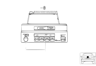 Rádio BMW Reverse RDS