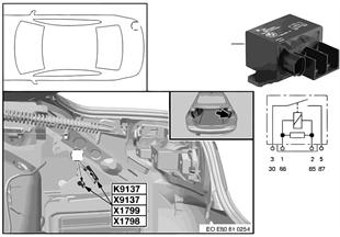 Relay for electric fan K9137