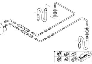 Bremsleitung hinten ASC/DSC