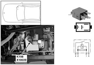 Relay, heated windshield/nozzle K198