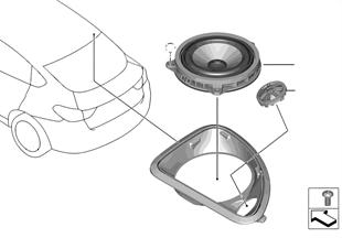 Afz. onderdelen luidspreker D-stijl