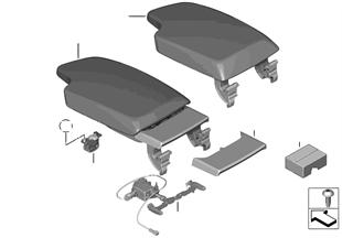 Podłokietnik konsoli środkowej