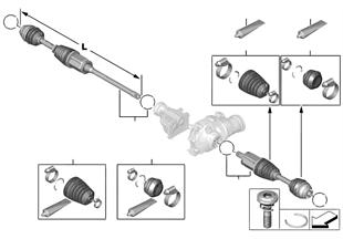 앞차축 디퍼렌셜-출력축/4륜 구동