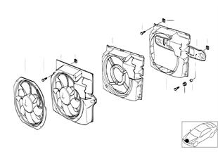 Ventilador y piezas de montaje