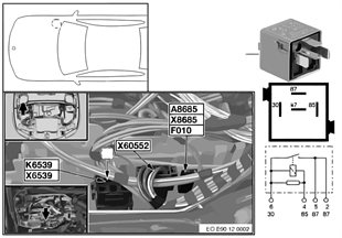 Relè riscaldamento sfiato motore K6539