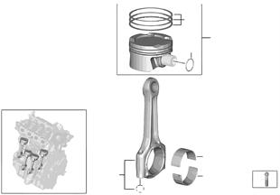 Kurbeltrieb-Pleuelstange/Kolben