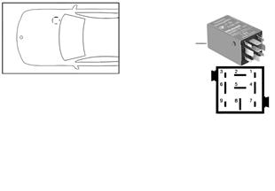 Реле подсветки нар.ручки двери зеленой