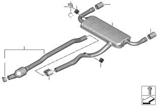 Impianto di scarico posteriore