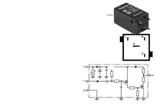 Relay, pulse adapter, black