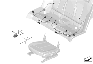 Wiązka przewodów fotela