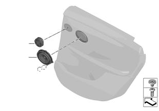 Einzelteile Lautsprecher Tür hinten