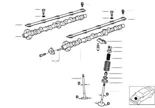 Ventilsteuerung-Nockenwelle/Schmierung