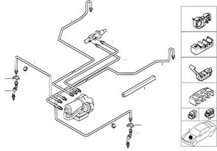 Трубопровод тормозн.привода Пд ABS/ASC+T