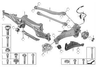 後橋架梁-車輪懸架裝置-車輪軸承