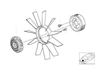 Koelsysteem-ventilator/ventilatorkoppel.