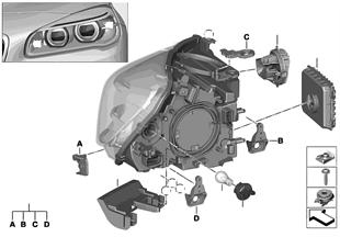 Componentes faro LED