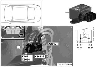 Relé odpojení 2.akumulátor K447