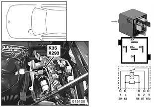 Relé stěrač 1 K36