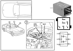 euc9 vehicle electrical system bmw 3' e36 316i m40 europe E36 Fuse Diagram at edmiracle.co