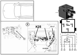繼電器 停車燈 右側 / 牌照燈 K25
