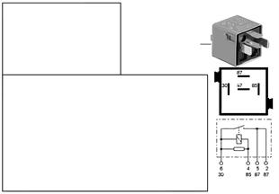 Röle, kapı kilidi ısıtması K29y
