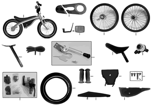 BMW replac. parts — Kidsbike NF black