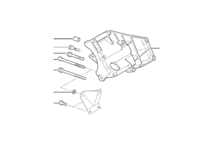Опорный кронштейн компрессора кондиц.