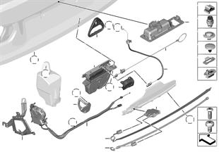 Cofano porta bagagli/sistema d.chiusura