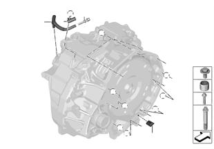 GA8F22AW Převod. montážní díly/uchycení