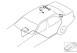 Piezas adic.de antena de cristal trasero