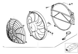 보조 휀 그리고 설치부품