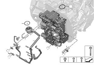 GA8F22AW řadicí ústrojí amontáž. díly