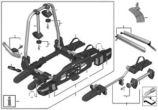 自行車尾部支撐架 高級型