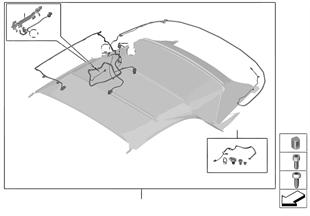 Skládací střecha kabelový svazek