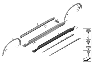 Moldura faldón / arco de rueda