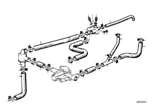 冷却系サーモスタット/ホース ガイド