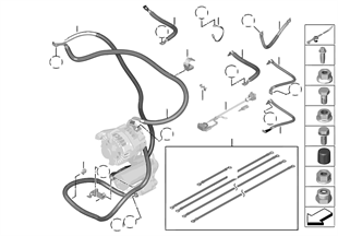 Accu- startmotor- massadraad