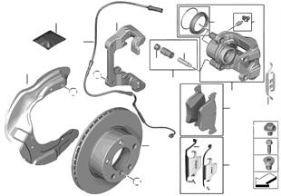 Capteur de plaquette de frein avant