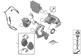 Zadní brzda — řídicí jednotka EMF