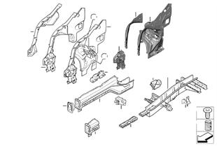 Radhaus/Motorträger