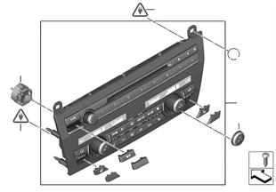 라디오 및 에어컨 조작부