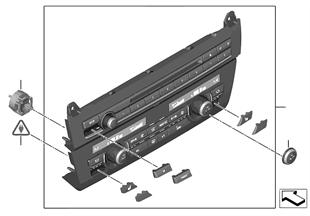 Quadro comando radio e climatizzatore